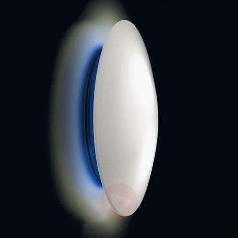LED wall light Bis with a blue base, IP44