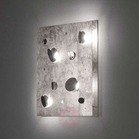 LED wall light Buchi with silver leaf