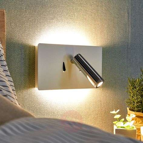 LED wall light Elske with reading light