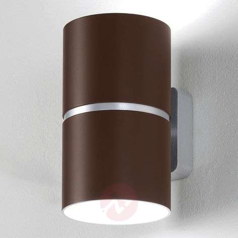 LED wall light Kone, chocolate, 35 W