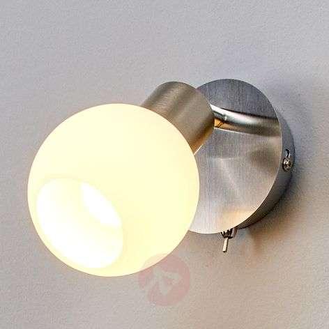LED wall spotlight Elaina, matt nickel
