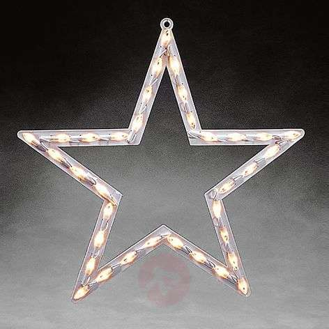 LED window silhouette Star for indoors warm white