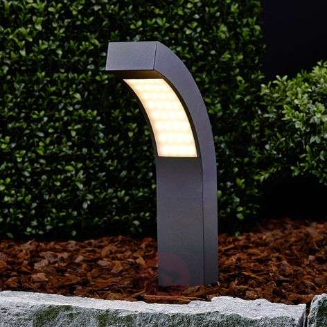 Lennik, Angled LED Pillar Lamp, 40 cm