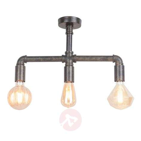 Leonas LED ceiling light, industrial style, 3-bulb