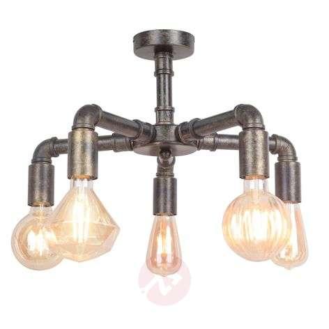 Leonas LED ceiling light, industrial style, 5-bulb