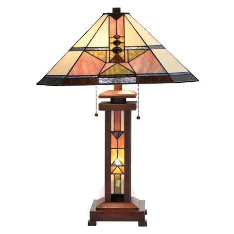 Leondra - beautiful table lamp, Tiffany-style