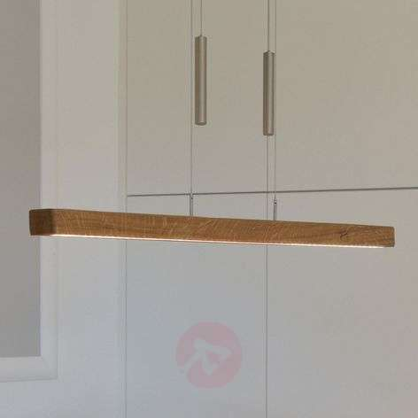 Leonora height-adjustable wooden LED hanging lamp