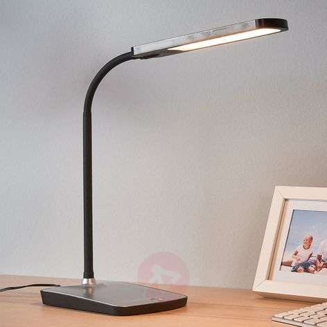 Leoris LED desk lamp with USB port-9643040-32