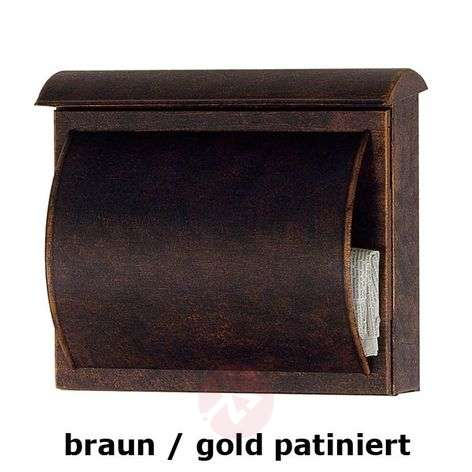Letterbox TORES brown / gold patinated
