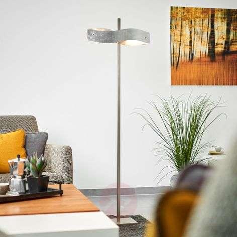 Lian LED floor lamp with metal leaf