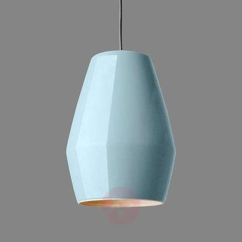 Light blue hanging light Bell