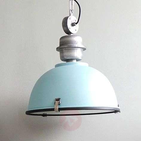 Light blue industrial pendant light Bikkel