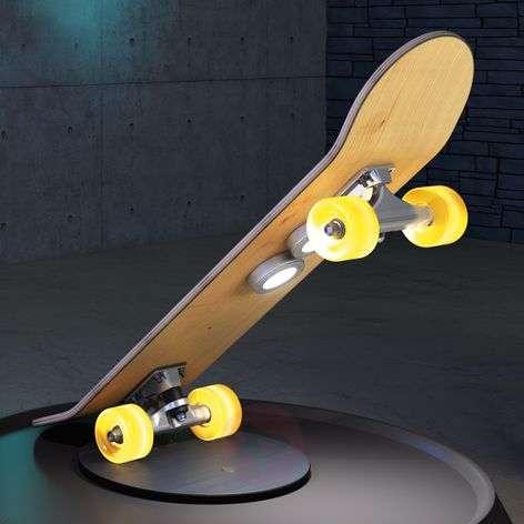 Light Cruiser skateboard table lamp with LEDs