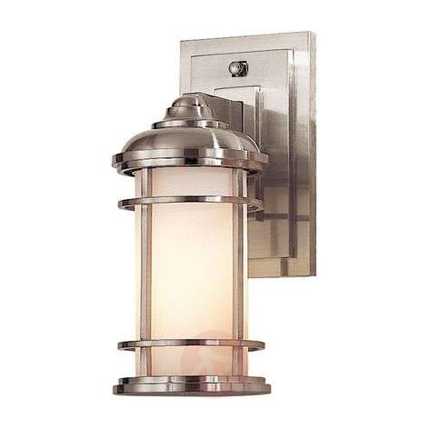 Lighthouse outdoor wall lamp, brushed steel-3048881-31