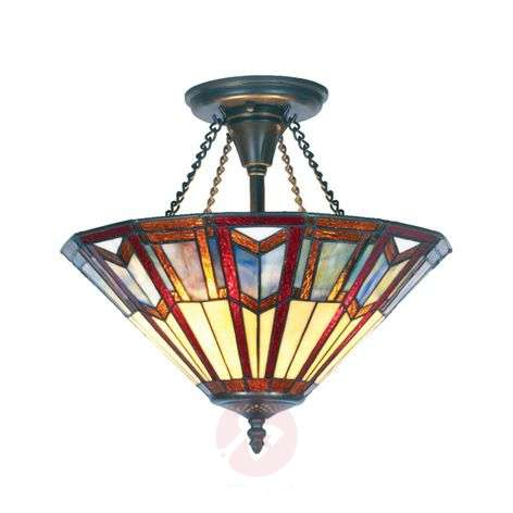 LILLIE Tiffany-style ceiling light