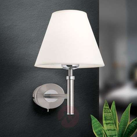 Lilly Nickel Wall Light with Fabric Shade