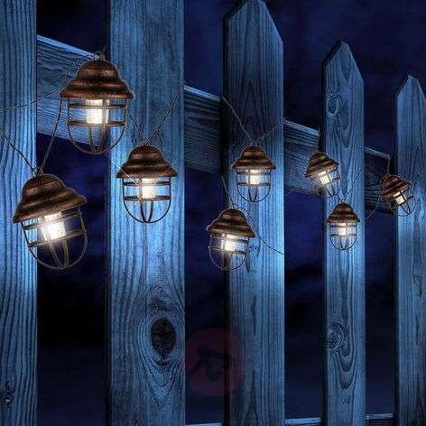Lina solar string lights with 8 lanterns