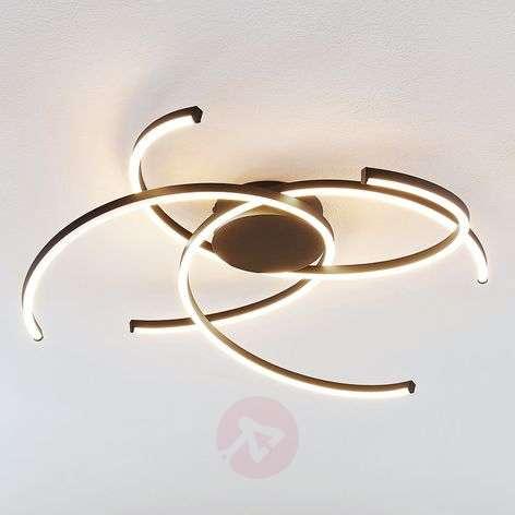 Lindby Katris LED ceiling light, 73 cm, black