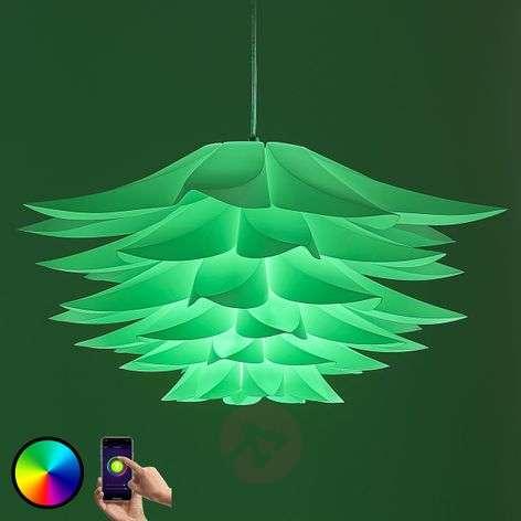 Lindby Smart hanging lamp Lavinja, RGB LED bulb