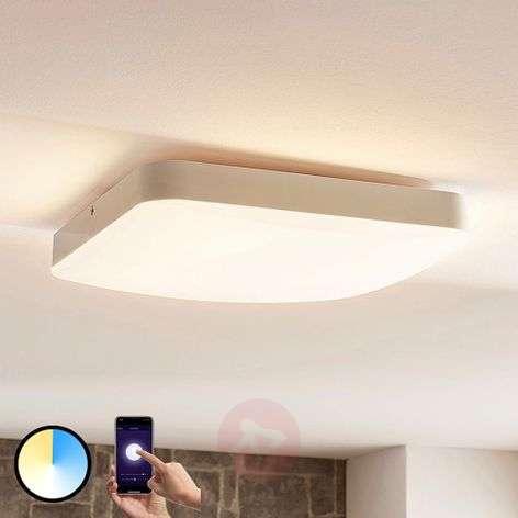Lindby Smart LED ceiling light Chester, angular