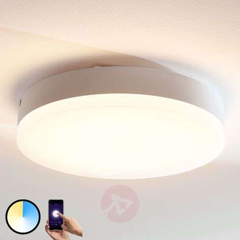 Lindby Smart LED ceiling light Chester, round