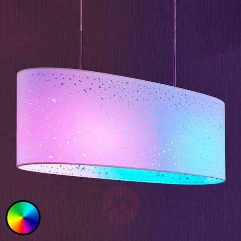 Lindby Smart LED pendant lamp Alwine, spots, oval