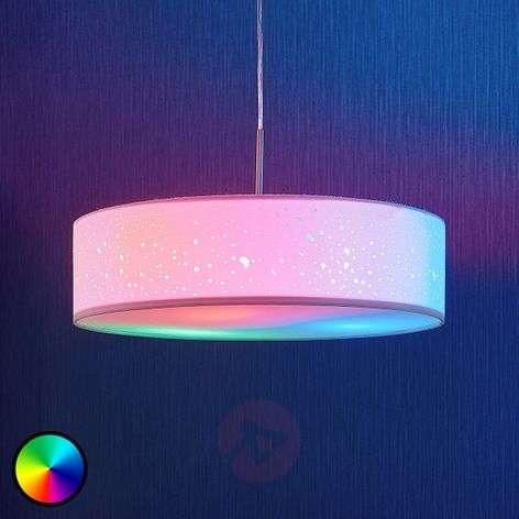 Lindby Smart LED pendant lamp Alwine, spots, round