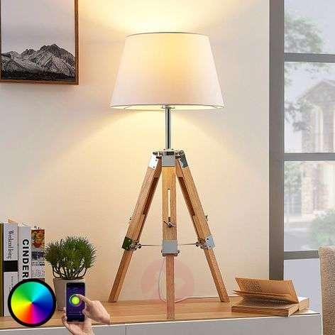 Lindby Smart tripod table lamp Alessa, RGB LED