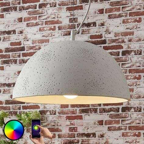 Lindy Smart pendant light Carolle with an RGB LED