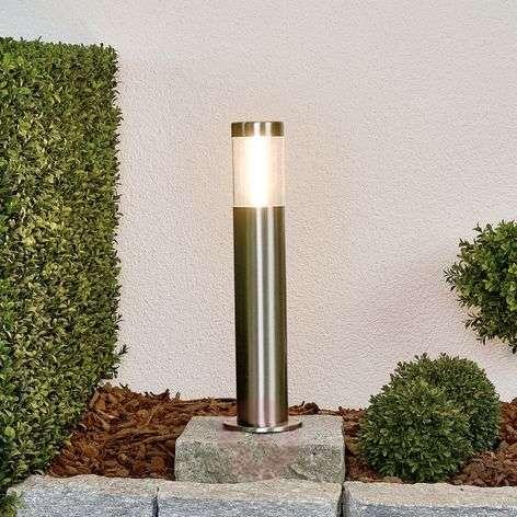 Linear LED pillar light Ellie,  stainless steel