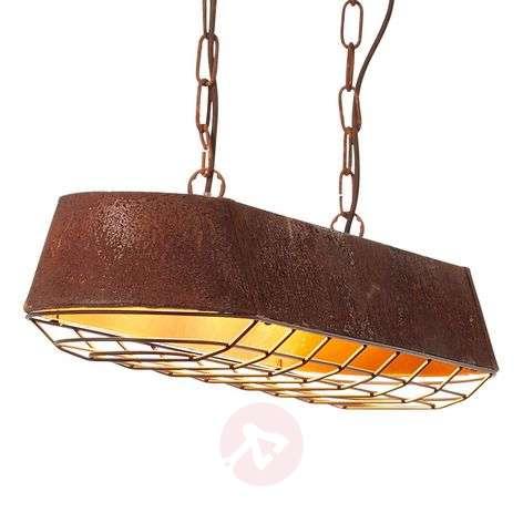 Linear pendant light Factory in rust colour