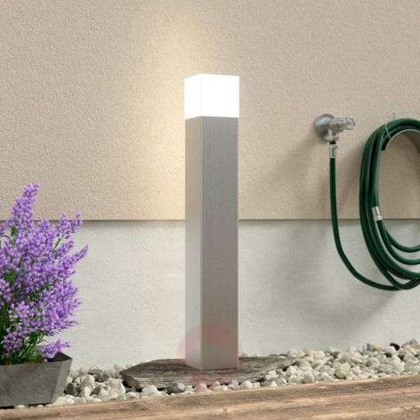 Linus stainless steel path light with opal glass-6068007-31