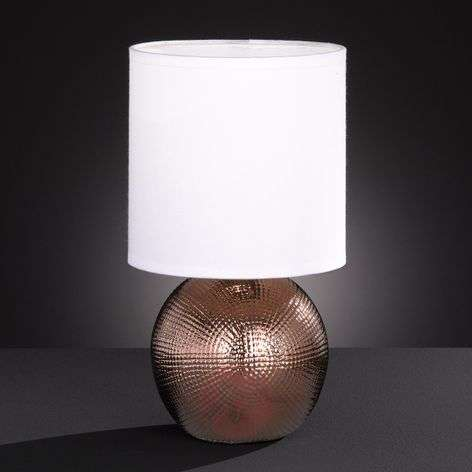 Little table lamp Foro with copper-coloured base-4581157-31