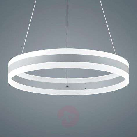 Liv - matt white LED hanging light, diameter 60 cm