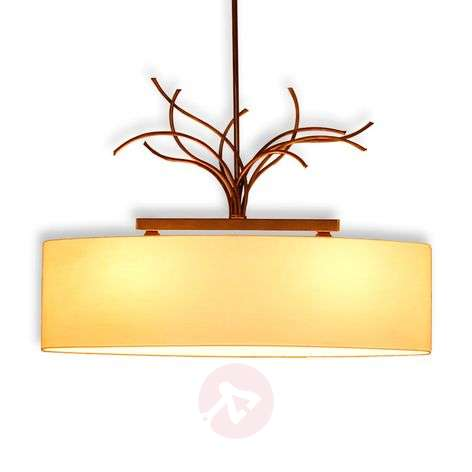 Living cream-coloured hanging light