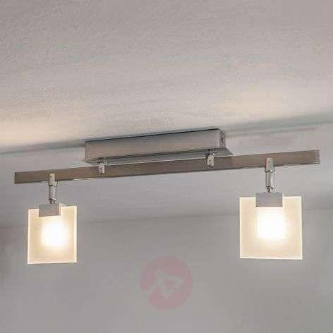 Livius LED ceiling light, square glass shades