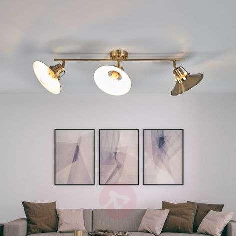Long ceiling light Arkadia, antique brass