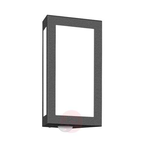 Long Exterior Wall Lamp with Sensor