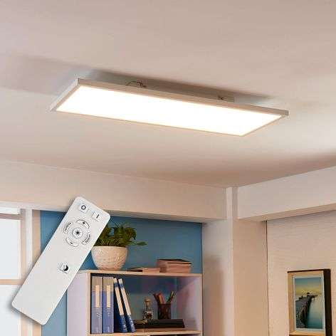 Long LED ceiling lamp Philia, var. luminous colour
