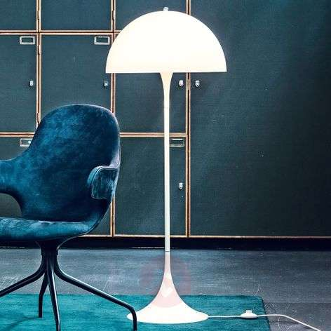 Louis Poulsen Panthella designer floor lamp, opal