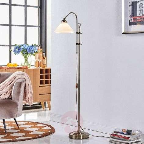 Lovely floor lamp Otis in antique brass