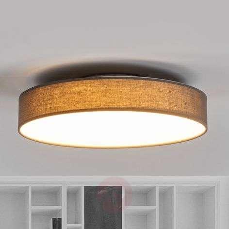 Lovely LED fabric ceiling lamp Saira in grey-9625091-32