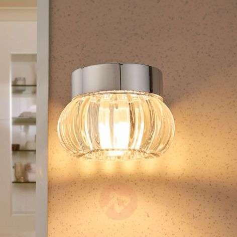 Lovely LED wall lamp Bellana, crystal glass, IP44