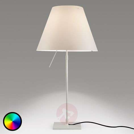 Luceplan Costanza table lamp with Philips Hue bulb