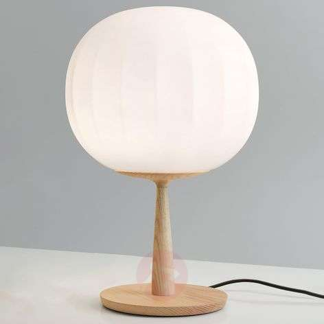 Luceplan Lita table lamp ash wood base