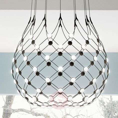 Luceplan Mesh pendant lamp Ø 100 cm wireless-6030245X-31