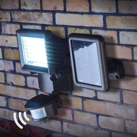 Luke LED solar spotlight with motion sensor