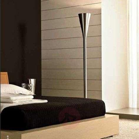 Luminator designer floor lamp, nickel