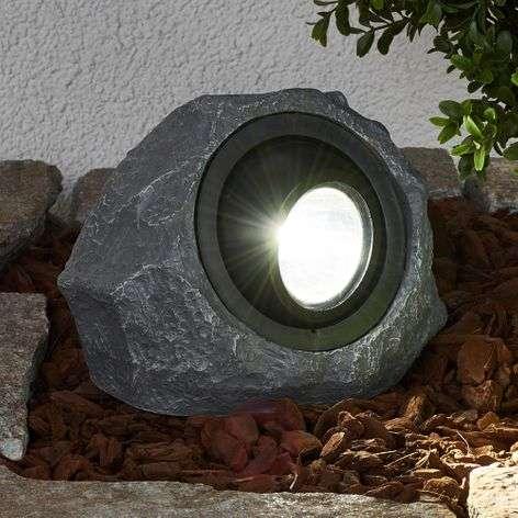Luminous solar stone Lior with LEDs