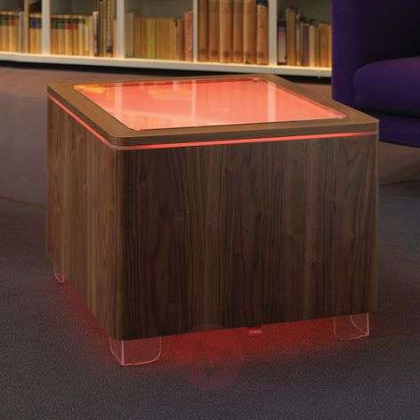 Luminous table Ora LED with a wooden body-6537092-35